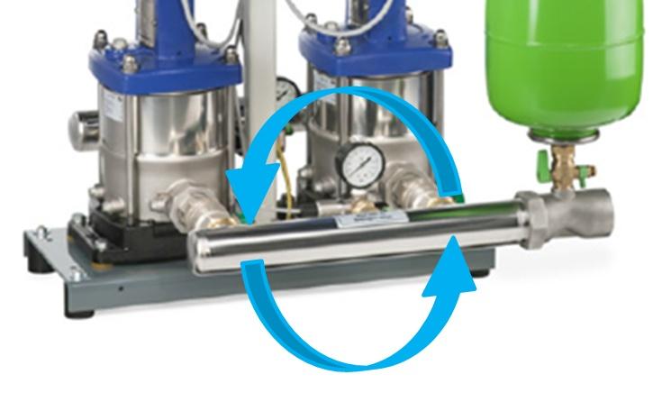 Leidingsysteem Hydro-Unit Premium Line drukverhogingsinstallatie op locatie te positioneren