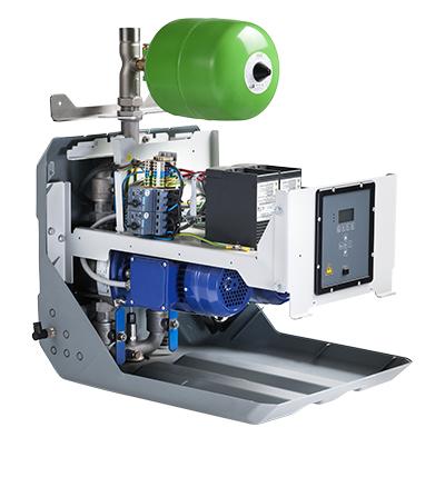 doorsnede van de Hydro-Unit Cube met twee pompen