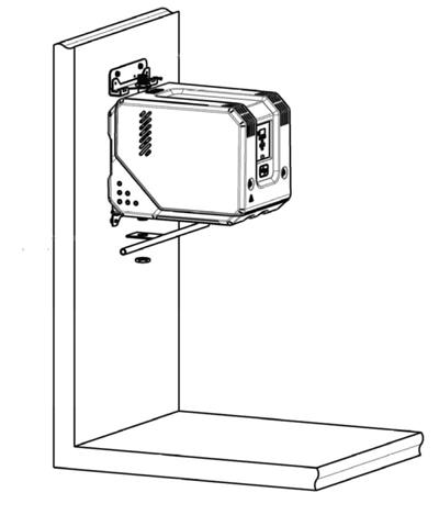 De Cube drukverhoger kan aan de muur worden gemonteerd